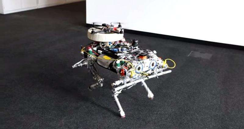 Quadcopter and Quadruped story ends with smooth landing