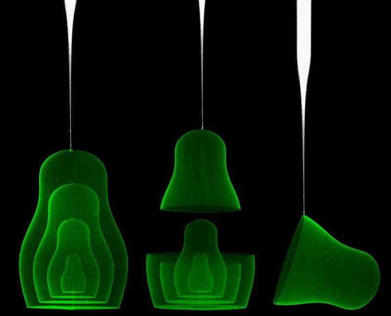 Researchers print inside gels to create unique shapes