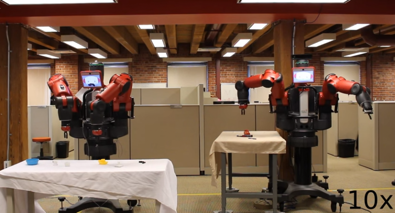 Power in numbers applies to robots learning grasping skills