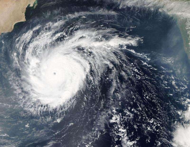 NASA analyzes powerful Cyclone Chapala's rainfall over the Arabian Sea