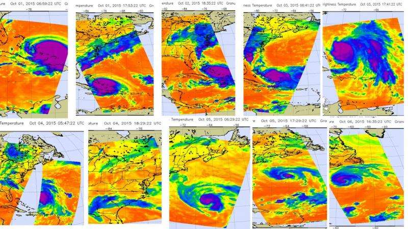 NASA provides an infrared look at Hurricane Joaquin over time