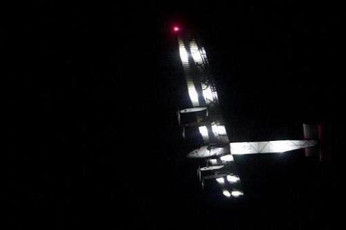 Solar Impulse 2, the world's only solar powered aircraft, takes off from Mandalay, Myanmar on March 30, 2015, in route to Chongq