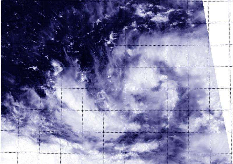 NASA's Aqua satellite sees birth of Tropical Depression 17W