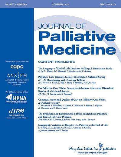 Access to palliative care in US hospitals still not universal
