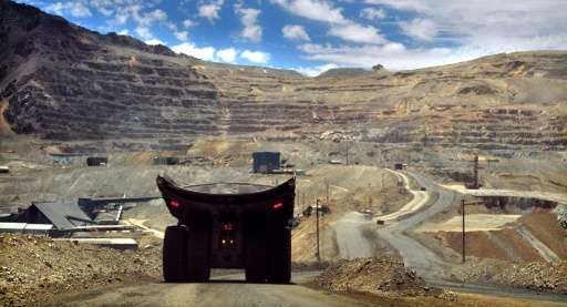 A copper mine 60 kms from Santiago is seen on December 27, 2011