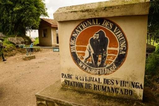 An access to the Virunga National Park is seen near Rutshuru on June 17, 2014