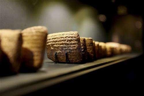 Ancient tablets displayed in Jerusalem fuel looting debate