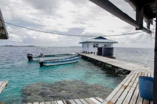 A pearl farm in French Polynesia, photographed March 10 2015, is among businesses facing uncertainties amid both climate change