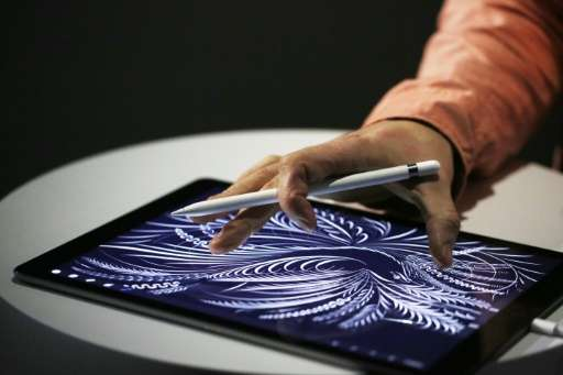 Apple is seeking to carve out a new niche in the tablet market with the iPad Pro, pictured on September 9, 2015, which has a det