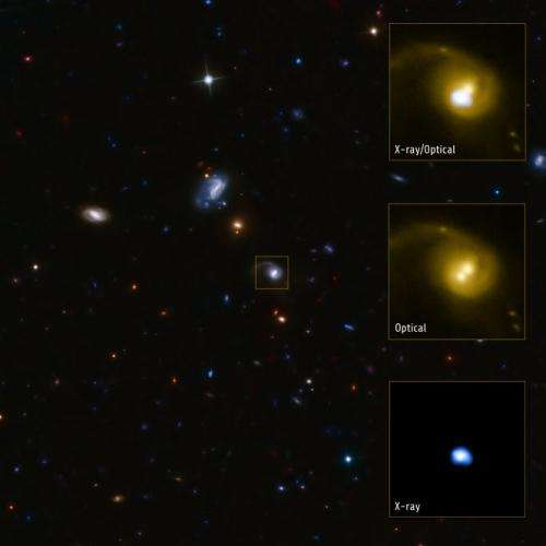 A Recoiling, Supermassive Black Hole