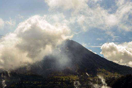 Ash is spewed from the Turrialba volcano in Cartago province, Costa Rica on April 6, 2015