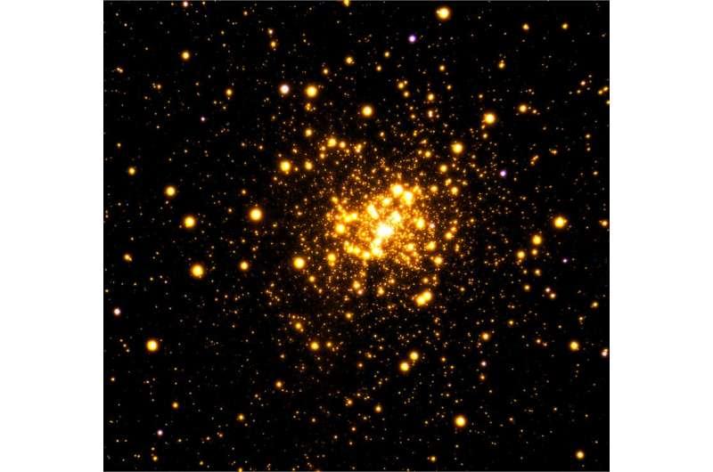 Astronomers image rare stellar cluster Liller 1