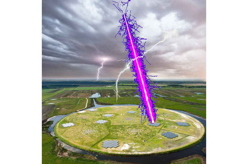 Astronomers use space particles to measure electrical field in thunderstorms