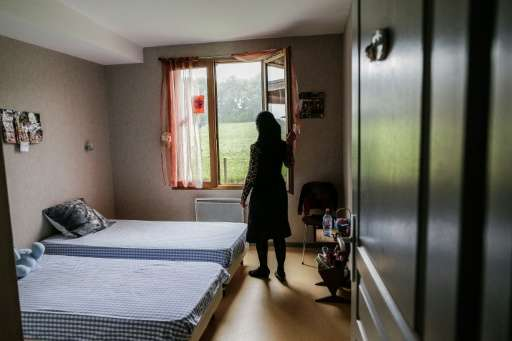 A Syrian refugee who settled in social housing with her family in France, pictured on September 17, 2015