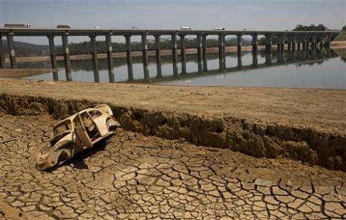 Biggest reservoir for Brazil's largest city is running dry