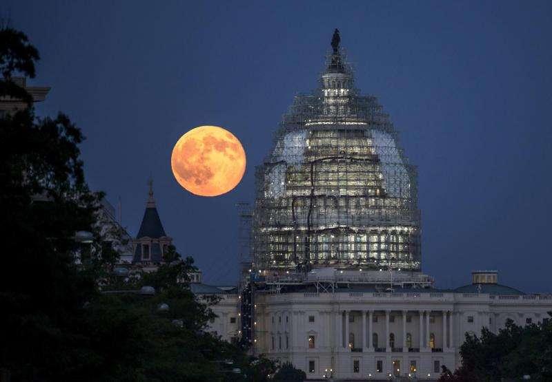 Blue Moon Over Washington