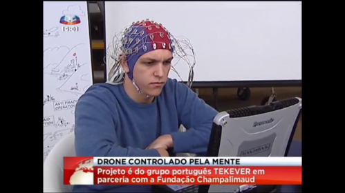 Brain signals turn into drone commands in Lisbon presentation