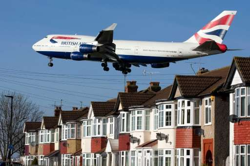 British Airways' fleet, including this  747 landing at Heathrow Airport on February 18, 2015, is among the least fuel-efficient