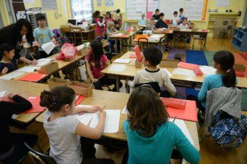 Broadway Elementary in Los Angeles is a part of a growing number of public schools to offer a dual-language immersion program