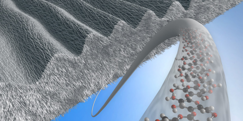 Cellulose with Braille for cells