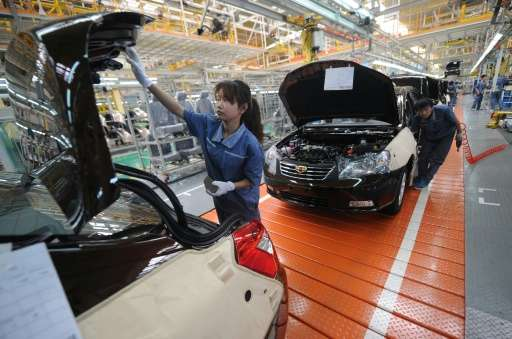 Chinese auto manufacturer Geely sold a total of 422,000 cars in the first ten months of this year, up 10 percent year-on-year