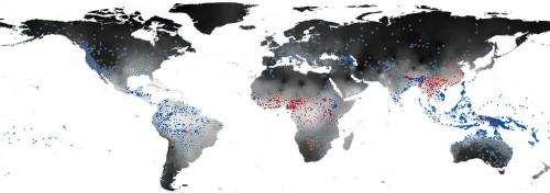 Climate affects the development of human speech