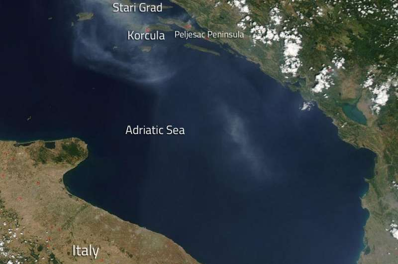 Croatian island fires causing summer havoc