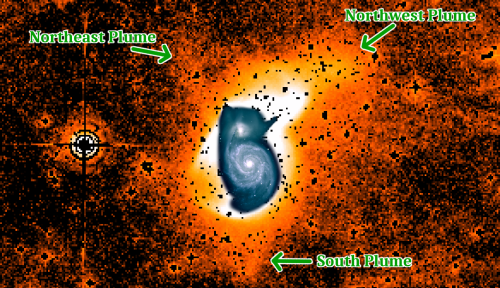 CWRU astronomers find new details in first known spiral galaxy
