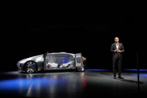 Dr. Dieter Zetsche, Chairman of the Board of Management of Daimler AG and head of Mercedes-Benz Cars, unveils the Mercedes-Benz