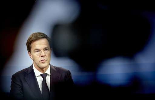 Dutch Prime Minister Mark Rutte, photographed November 20, 2015 in The Hague, is on record as opposing a plan approved by lawmak