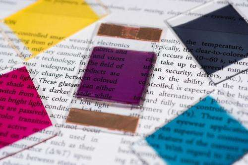 Electrochromic polymers create broad color palette for sunglasses, windows