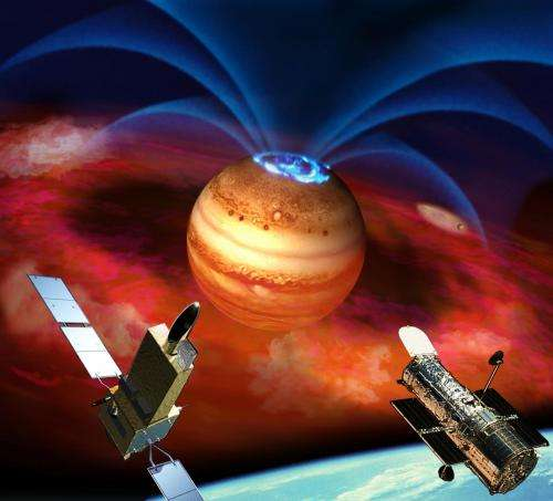 EXPLOSIONS OF JUPITER'S AURORA LINKED TO EXTRAORDINARY PLANET-MOON INTERACTION
