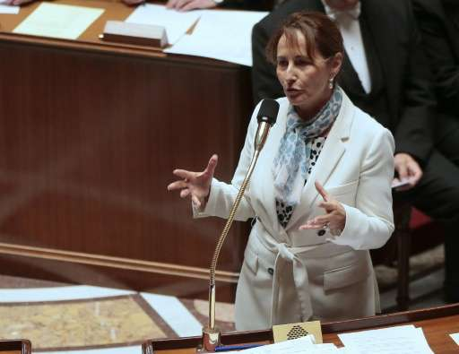 French Ecology Minister Segolene Royal addresses lawmakers during a session of questions to the government at the National Assem