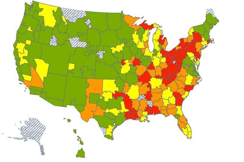 Google searches for 'n-word' associated with black mortality