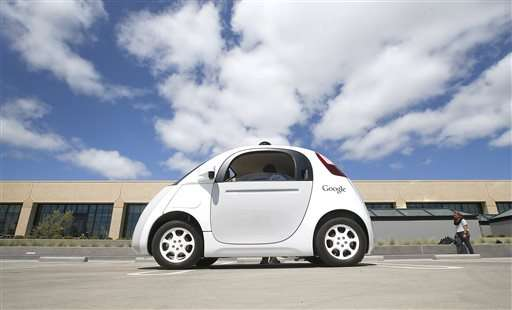 Google's new self-driving cars cruising Silicon Valley roads