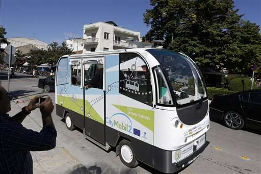 Greek town glimpses mass transit future: driverless buses