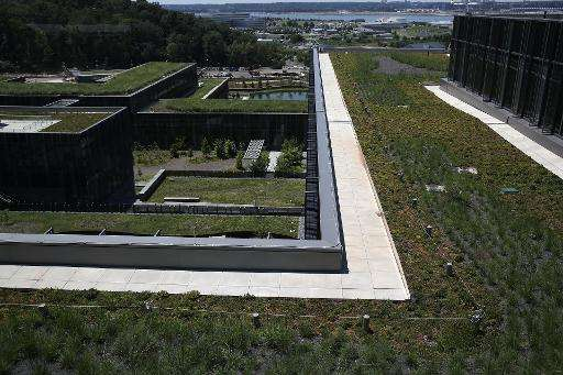 Green roofs are seen on top of the new U.S. Coast Guard Headquarters July 29, 2013 in Washington, DC