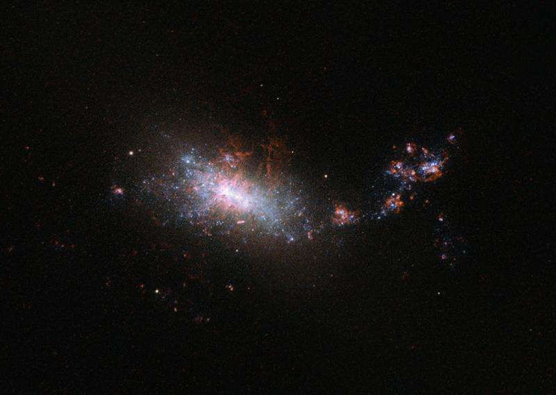 Hubble looks in on a galactic nursery