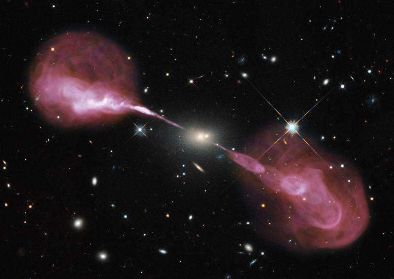 Image: A supermassive black hole in action
