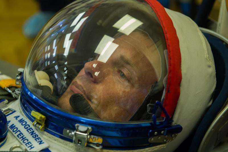 Image: ESA astronaut Andreas Mogensen ready for launch