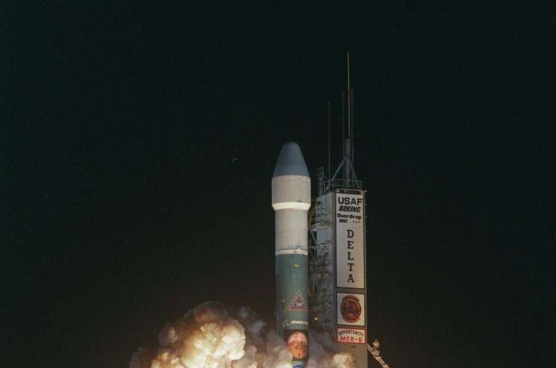 Image: July 7, 2003, NASA's Opportunity rover launches to Mars