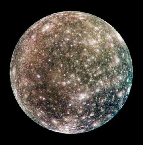 Image: Jupiter's cratered moon, Callisto