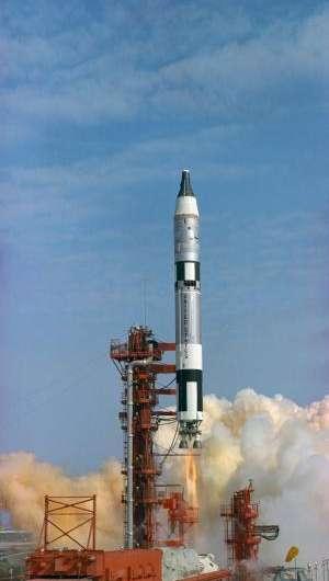 Image: Launch of first crewed Gemini flight