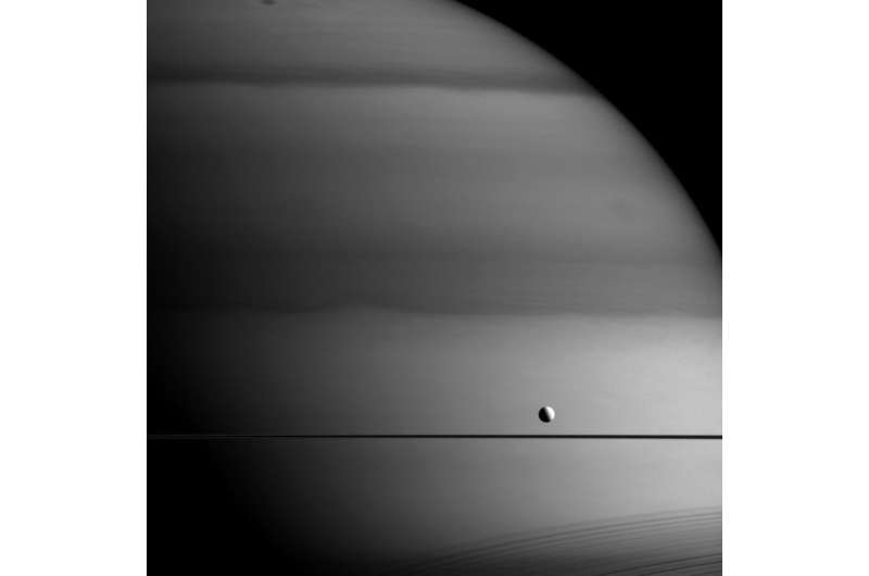 Image: Methane painting in the Saturn system