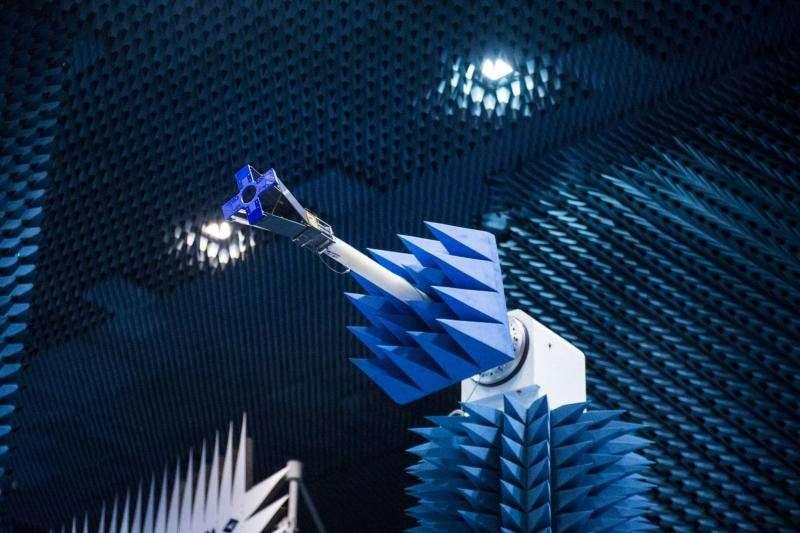 Image: Qarman CubeSat in Hertz test chamber