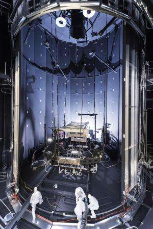 Image: Space simulation chamber prepared for testing Webb telescope