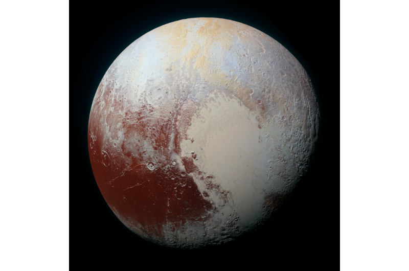 Image: Unprecedented detail in enhanced high-resolution color image of Pluto