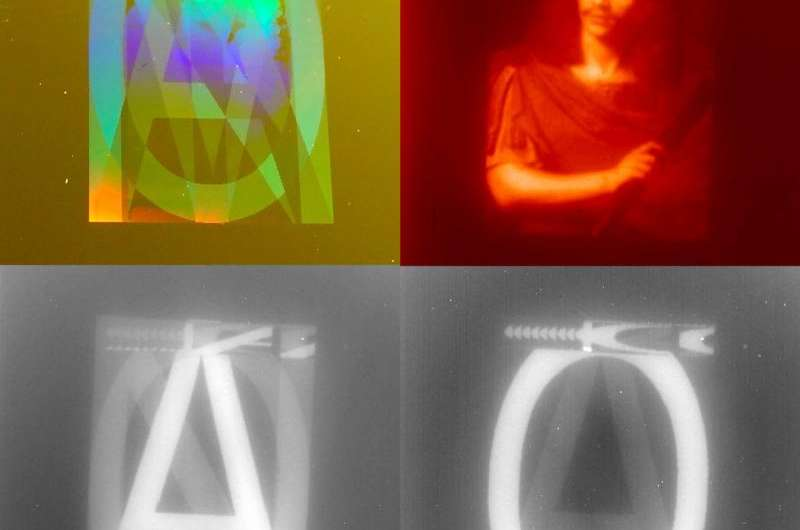 Infrared encoding of images with metasurfaces