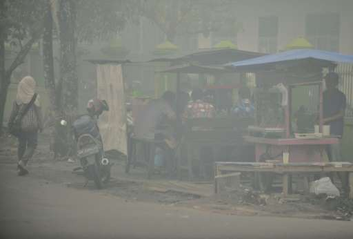 In Indonesia's central Kalimantan where respiratory illnesses have soared as the smog has worsened in recent weeks