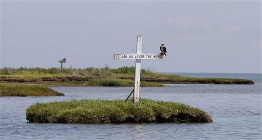 Islanders in Chesapeake Bay face exile from rising seas